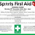FIRST AID COURSE AVAILABLE